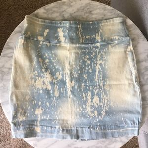 Urban bleached denim mini skirt